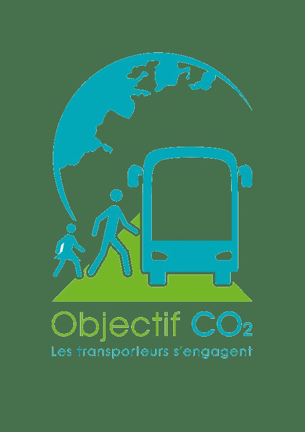 """Logo Objectif C0² """"Les transporteurs s'engagent"""""""